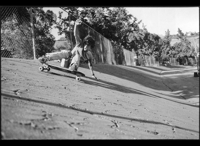 GEF skating banks, circa 1982  - Photograph by C.R. Stecyk III