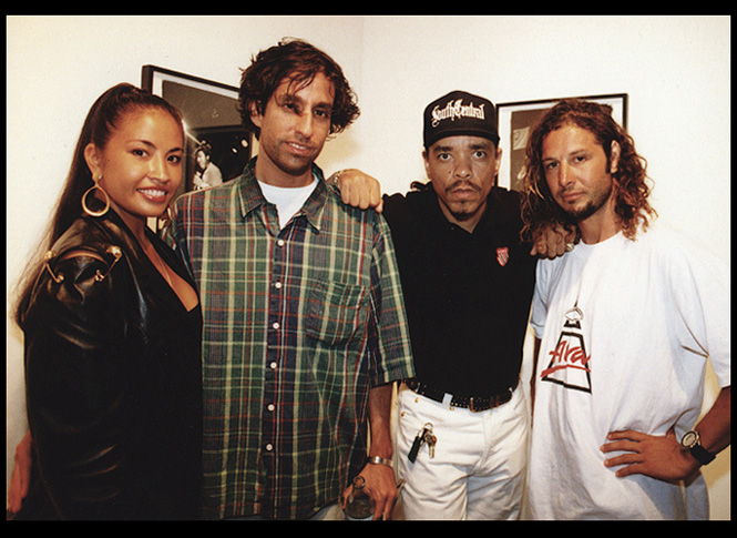 Darlene Ortiz, GEF, ICE-T, and Tony Alva at the premiere <br />'Fuck You Heroes' exhibition, Fall 1994