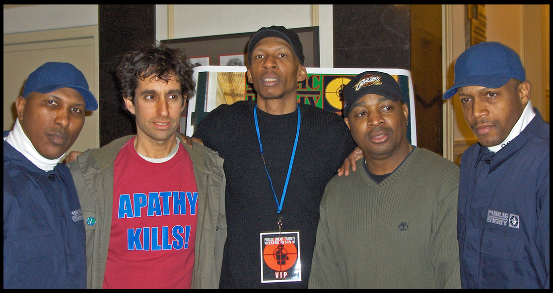 "GEF w/Chuck D., Hank Shocklee & S1W's at NYU event commemorating<br />""It Takes A Nation of Millions to Hold Us Back"" - 2005"