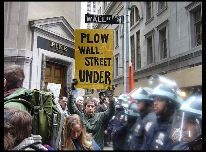 'November 17th Day of Action'  2011 - Protest at WALL Street  #OWS<br />photo by Simone Reyes