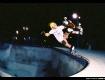 Steve Caballero at the original 'combi-pool' in Upland, CA, eraly 80's