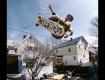 Tom Groholski on his backyard ramp in New Brunswick, NJ circa 1985.