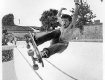 Jay Alabamy at a pool in orange county, circa 1983, this shot was used on the cover of Thrasher magazine