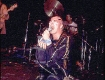 Darby Crash performing as the Darby Crash band for a period when the Germs could no longer play in Los Angeles and he had just returned from a trip to the UK where he picked up some inspiration from 'Adam and the Ants'. circa 1980