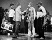 LL Cool Jay and his crew on American Bandstand with Dick Clark circa 1986