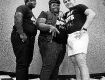 the FAT BOYS on the set of some morning show in Los Angeles circa 1984