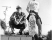 Mike Muir and Jim Muir pose for a Thrasher promotion we did. circa 1983