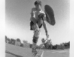 Rodney Mullen at Kenter Canyon School year circa 1983, this photo was sued on the cover of Thrasher Magazine at the time.