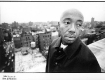 Russell Simmons on his roof at 4th & Broadway in the early 90's