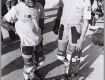 Stevie Caballero and Rodney Mullen at a contest sometime in the early 80's.