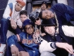 Beastie Boys and Run DMC, on the stoop out side the original Def Jam/ Rush productions office at 298 Elizabeth street circa 1987