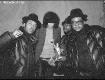 The two Joey's, Jam Master Jay and DMC, New York City circa 1985