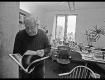 Noam Chomsky in his office at MIT in Cambridge, Massachusetts, taking a look at my book The Idealist - 1 March 2013